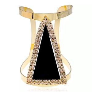 Maxi Triangle Crystal Metal Maxi Cuff Bracelet